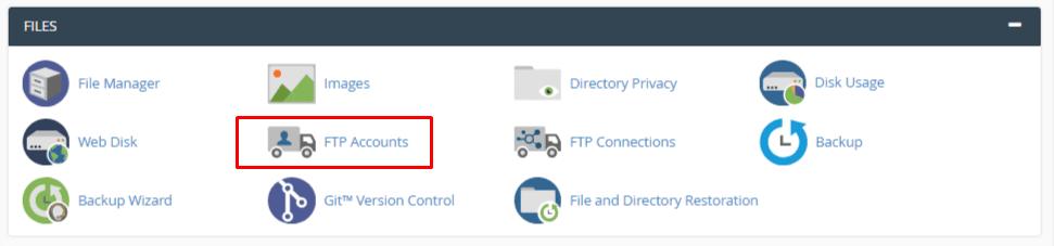 ایجاد FTP در سی پنل