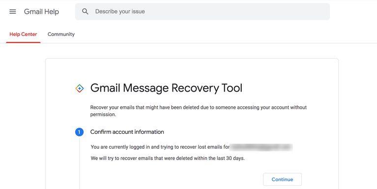 باز یابی ایمیل های حذف شده جیمیل